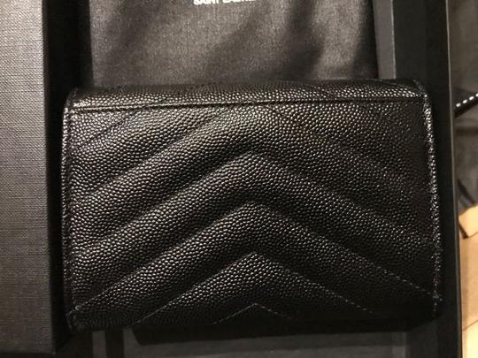 Saint Laurent Quilted textured-leather wallet Image 7
