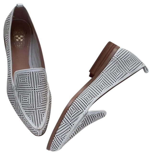 Item - White Kandia Casual Perforated Leather Spring Loafers Flats Size US 6.5 Regular (M, B)