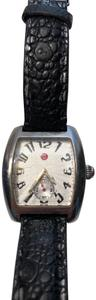 Michele Michele Watch wtr resistant stainless steel black/silver leather band