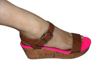 Aéropostale Hot Wedge New Wedges Pink Sandals