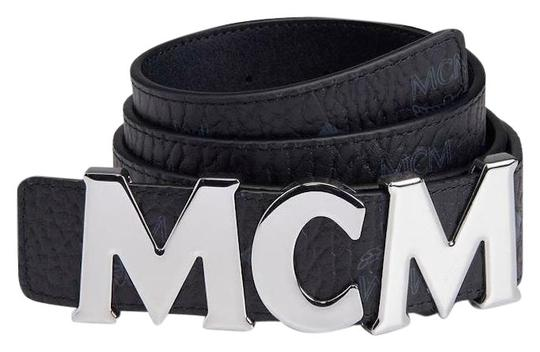 Preload https://img-static.tradesy.com/item/25941789/mcm-black-unisex-leather-monogram-visetos-silver-buckle-hook-belt-0-1-540-540.jpg