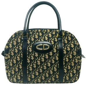 Dior Oblique Trotter Medium Tote in Navy