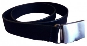 Other Black Leather Belt w/ Silver Buckle