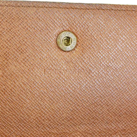 Louis Vuitton Authentic LOUIS VUITTON Credit Long Bifold Wallet Purse Monogram Brown Image 11