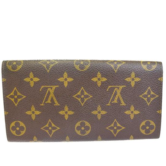 Louis Vuitton Authentic LOUIS VUITTON Credit Long Bifold Wallet Purse Monogram Brown Image 5