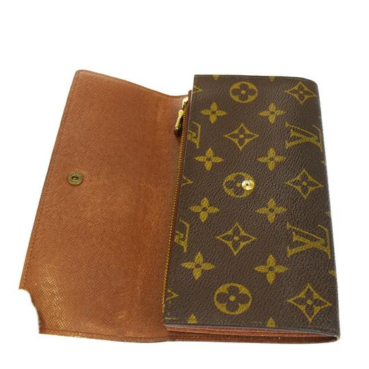 Louis Vuitton Authentic LOUIS VUITTON Credit Long Bifold Wallet Purse Monogram Brown Image 6