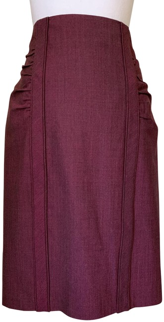 "Item - Red Purple ""Top Secret"" Pencil Skirt Size 10 (M, 31)"