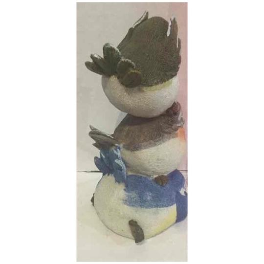 Mixed Resin Stacked Birds Don't See Hear Or Speek Decoration Image 2
