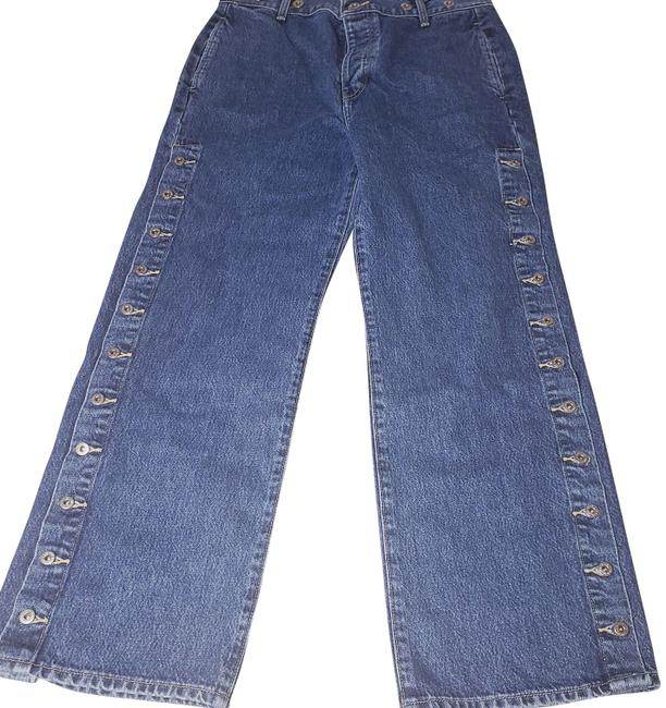 Item - Blue Medium Wash Made & Crafted Cinchback Union Denim Ankle 30x28 Trouser/Wide Leg Jeans Size 30 (6, M)