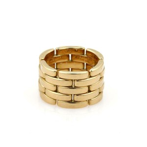 Cartier Maillon Panthere 18k Yellow Gold 5 Rows Wide Band Ring Size 6 W/cert
