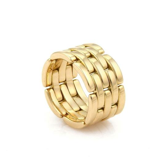 Cartier Maillon Panthere 18k Yellow Gold 5 Rows Wide Band Ring Size 6 W/cert Image 2