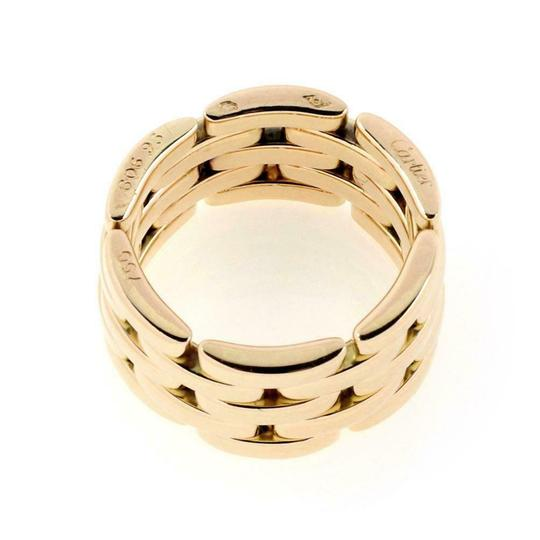 Cartier Maillon Panthere 18k Yellow Gold 5 Rows Wide Band Ring Size 6 W/cert Image 3