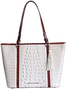 Brahmin Leather Asher Petunia Pink Tote in Multicolor