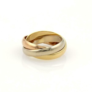 Cartier Trinity 18k Gold Classic Rolling Band Ring Size EU 51-US 5.5 w/Cert