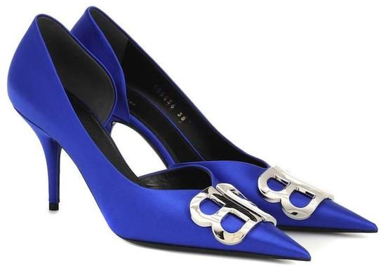 Balenciaga Pigalle Follies Stiletto Glitter Classic blue Pumps Image 4