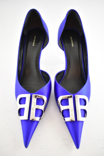 Balenciaga Pigalle Follies Stiletto Glitter Classic blue Pumps Image 7