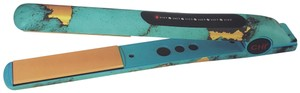 """Chi CHI 'Turquoise Glow' 1"""" Ceramic Hairstyling Iron with Thermal Fashion"""