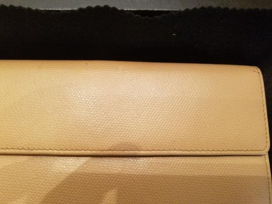 Chanel CHANEL VINTAGE CREME YELLOW LONG WALLET CLUTCH Image 10