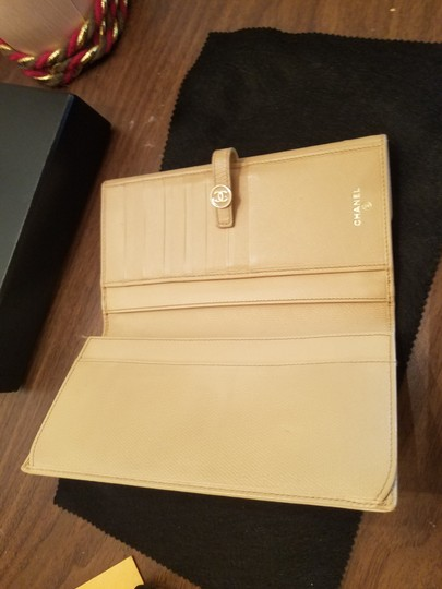 Chanel CHANEL VINTAGE CREME YELLOW LONG WALLET CLUTCH Image 2