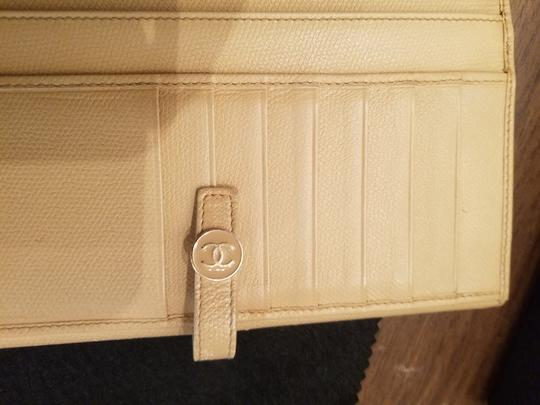 Chanel CHANEL VINTAGE CREME YELLOW LONG WALLET CLUTCH Image 5
