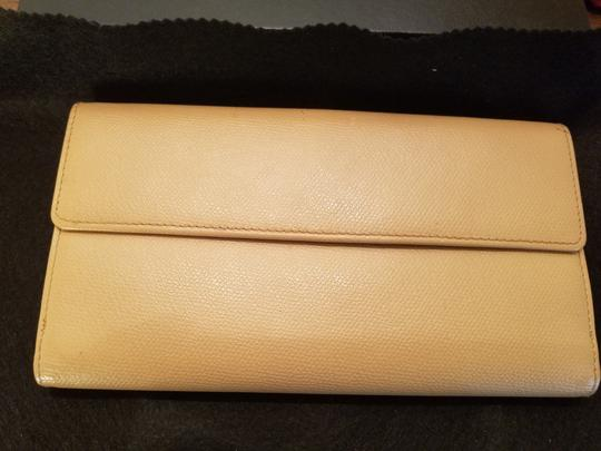 Chanel CHANEL VINTAGE CREME YELLOW LONG WALLET CLUTCH Image 6