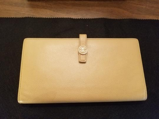 Chanel CHANEL VINTAGE CREME YELLOW LONG WALLET CLUTCH Image 8
