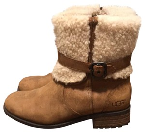 UGG Australia brown leather with shearling Boots