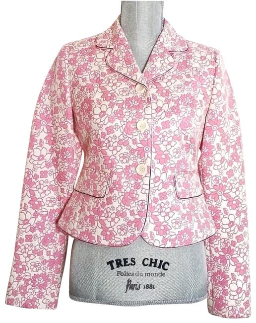 Item - Light Pink Floral Quilted Blazer Size 0 (XS)