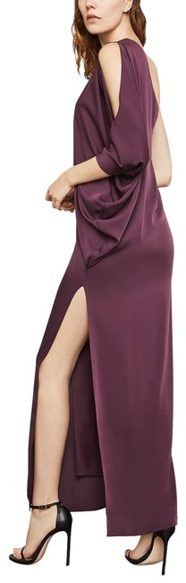 Item - Purple Cascading One-shoulder Gown Long Formal Dress Size 6 (S)