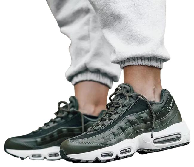 Item - Green Women's Air Max 95 Lx Olive Canvas Synthetic Leather Mesh Suede And/Or Leather Upper Provides A Fit. Sneakers Size US 8 Narrow (Aa, N)
