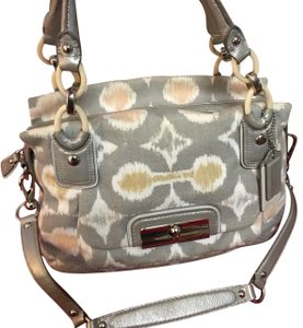 Coach Satchel in Gray/Taupe