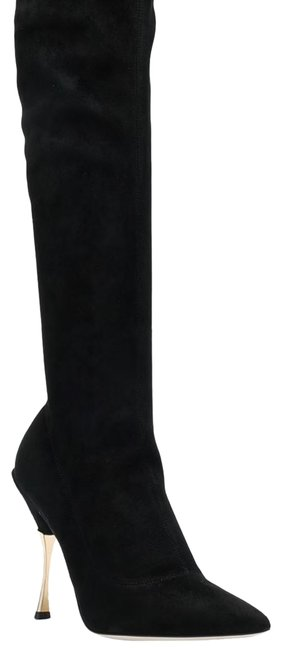 Item - Black Dolce and Gabbana Cardinal Stretch Suede Knee Boots/Booties Size EU 40 (Approx. US 10) Narrow (Aa, N)