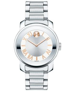 Movado Bold Stainless Steel Roman Numeral Dial 3600196 Watch