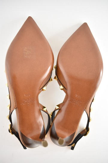 Valentino Studded Pointed Toe Leather Ankle Strap Stiletto brown Pumps Image 10