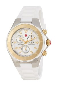 Michele Tahitian Jelly Silicone Two Tone Stainless Steel MWW12F000056 Watch