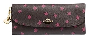 Coach Coach BOX SOFT WALLET WITH STAR PRINT AND Without CHARMS