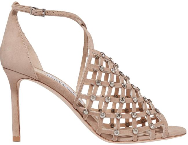Item - Nude Donnie Crystal Lattice-caged Sandal Formal Shoes Size EU 37.5 (Approx. US 7.5) Regular (M, B)
