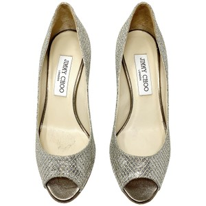 Jimmy Choo silver and gold Pumps