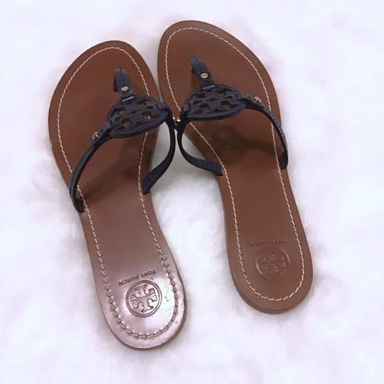 Tory Burch Navy Blue Sandals Image 1