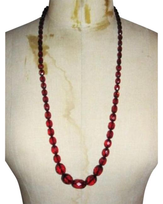 Item - Amber Victorian Cherry Faceted Bead Necklace