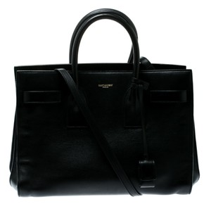 Saint Laurent Suede Leather Tote in Black