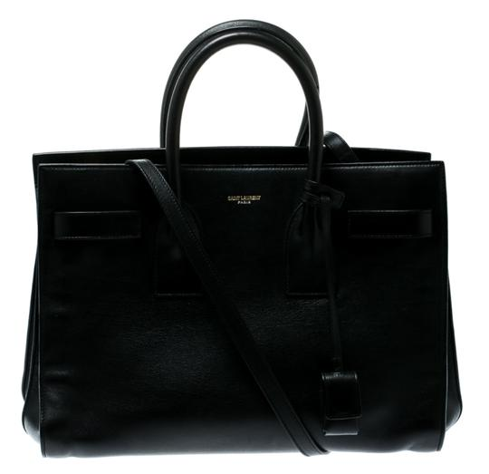Saint Laurent Suede Leather Tote in Black Image 0