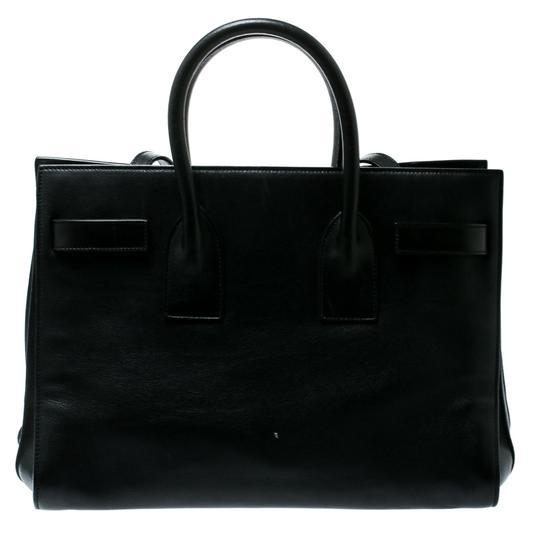 Saint Laurent Suede Leather Tote in Black Image 1