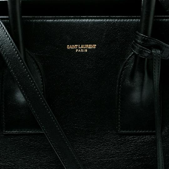 Saint Laurent Suede Leather Tote in Black Image 6