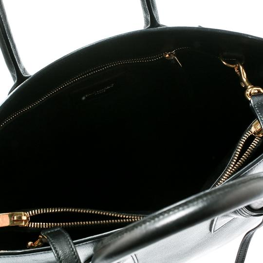 Saint Laurent Suede Leather Tote in Black Image 7