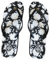 Tory Burch Black/White Floral Sandals