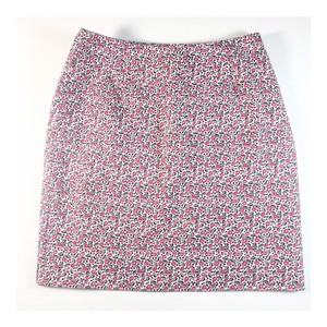 Ann Taylor Skirt White, Red, Navy