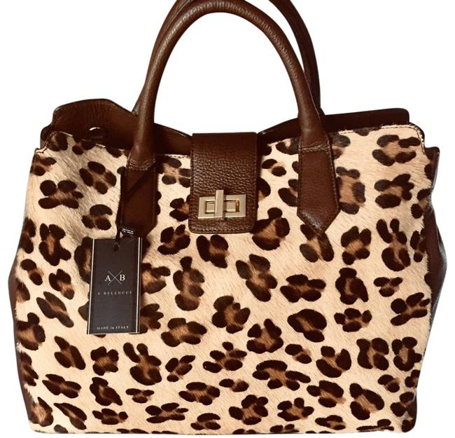 A. Bellucci Very Large Bag. Chocolate Fur and Leather Satchel A. Bellucci Very Large Bag. Chocolate Fur and Leather Satchel Image 1