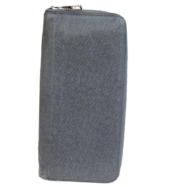 Louis Vuitton Gray Zippy Vertical Long Taiga Wallet Louis Vuitton Gray Zippy Vertical Long Taiga Wallet Image 1