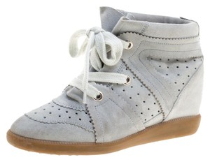 Isabel Marant Suede Lace Wedge Grey Athletic